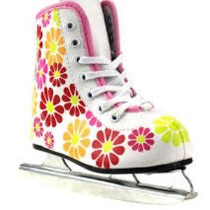 American 380 Flower Power Double Runner Ice Skate